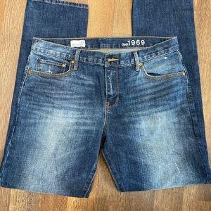 GAP 1969 Sexy Boyfriend Jeans SZ 10 34x31 HIGHRISE